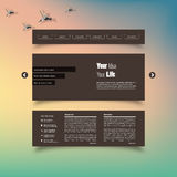 Vector illustration (eps 10) of Blurred web design template Stock Images