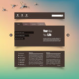 Vector illustration (eps 10) of Blurred web design template Stock Photo