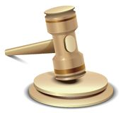 Realistic vector gavel Royalty Free Stock Photography