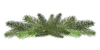 Vector illustration. Eps 10.Garland of branches of a Christmas t. Vector illustration. Eps 10.A long garland of fir branches. Christmas decor of natural elements Royalty Free Stock Photos