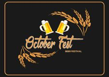 Vector illustration EPS 10. Oktoberfest handdrawn written lettering logo, label, badge, emblem. Isolated on background. stock illustration