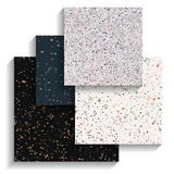 Set of terrazzo backgrounds, collection of seamless patterns Stock Photos
