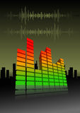Vector illustration of an equalizer bar Royalty Free Stock Photo