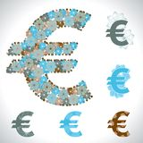 Vector illustration of the euro. Flower texture Royalty Free Stock Photos