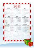 Vector illustration of European calendar 2011 Royalty Free Stock Photo