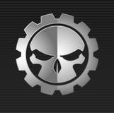 Vector illustration of evil skull Stock Image