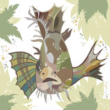 Vector illustration of exotic fish. Royalty Free Stock Photos