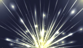 Vector illustration with the explosion and bright rays Royalty Free Stock Photography