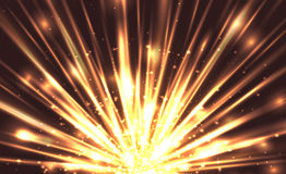Vector illustration with the explosion and bright rays Royalty Free Stock Images
