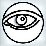 Vector illustration eye human black eyeball Royalty Free Stock Images