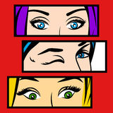 Vector illustration of eyes in the frame. Stock Images