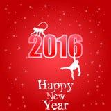 Vector Illustration für das Jahr von Affen 2016 Stockfotos
