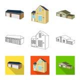 Vector illustration of facade and housing logo. Set of facade and infrastructure vector icon for stock. Isolated object of facade and housing icon. Collection stock illustration