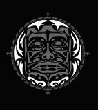 Vector illustration of the face symbol Royalty Free Stock Image
