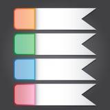 Vector Illustration, Fahne und Schablone fpr Design und kreatives Stockfoto