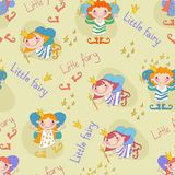 Vector illustration of fairies. The little fairies Stock Photos