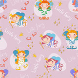 Vector illustration of fairies on a pink Royalty Free Stock Photography