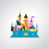 Vector Illustration of Fairytale castle Stock Photography