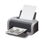 Vector illustration fake dollars Royalty Free Stock Photos