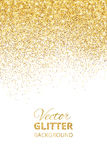 Vector illustration of falling glitter confetti, golden dust. Fe Stock Images