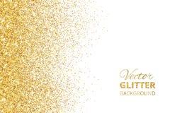 Vector illustration of falling glitter confetti, golden dust. Fe Stock Images