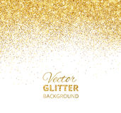 Vector illustration of falling glitter confetti, golden dust. Fe Royalty Free Stock Photography