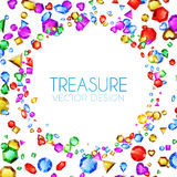 Vector illustration. Falling Multicolor Gems. Treasure Design. Abstract Luxury and Game Background. Stock Photos