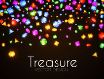 Vector illustration. Falling Multicolor Gems. Treasure Design. Abstract Luxury and Game Background. Stock Photo