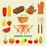 Vector illustration family picnic. Stock Image