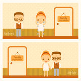 Vector illustration about family therapy Stock Photo