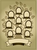 Family Tree background. Vector illustration of family tree. Genealogy template stock illustration