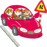 Family trip. Vector illustration of the Family trip Royalty Free Stock Images