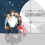 Vector Illustration of Family trip Stock Photo