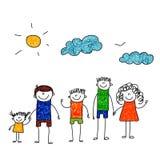 Vector illustration of family vacation. Royalty Free Stock Photos