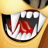 Vector illustration. Fangs. Stock Photography