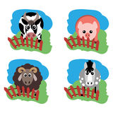 Vector illustration of farm animals and related items. Grouped for easy editing Royalty Free Stock Photos