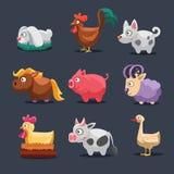 Vector Illustration of Farm Animals Stock Photos