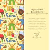 Vector illustration farm elements in doodle style. Vector illustration cute farm elements in doodle style with vertical place for text Stock Photography