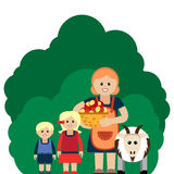 Vector illustration of farm family. Grouped for easy editing stock illustration