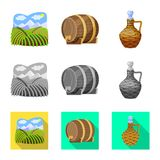 Vector illustration of farm and vineyard symbol. Collection of farm and product vector icon for stock. stock illustration