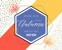 Vector illustration of fashion dynamic autumn sale poster Royalty Free Stock Photo