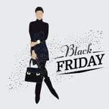 Vector illustration fashion style with fashion model Stock Photo