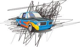 Vector illustration fast car. Cartoon  illustration fast car Stock Photos