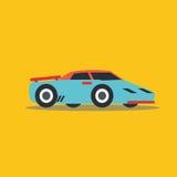 Vector illustration fast car. Cartoon of illustration fast car Stock Images