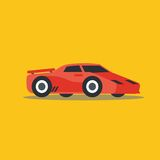 Vector illustration fast car. Cartoon of illustration fast car Royalty Free Stock Photo
