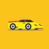 Vector illustration fast car. Cartoon of illustration fast car Royalty Free Stock Photography