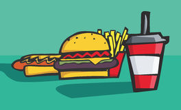 Vector illustration fast food Royalty Free Stock Photos