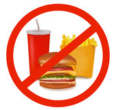 Vector illustration. Fast food danger label Stock Image