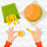 Vector illustration: fast food Stock Photos
