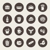 Vector Illustration. Fast food icons Stock Photos
